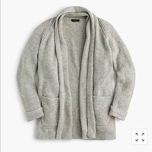 J Crew Long Open Front Sweater Cardigan, Size M